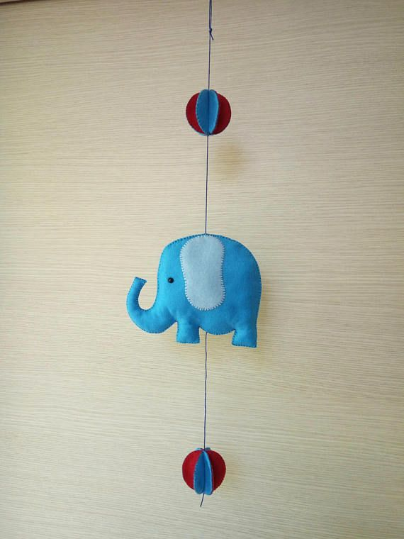 Color up your nursery with this cute elephant mobile!