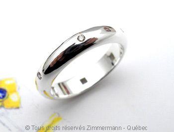Alliance Argent Diamants Champagne 6 X 1,4 mm Argent
