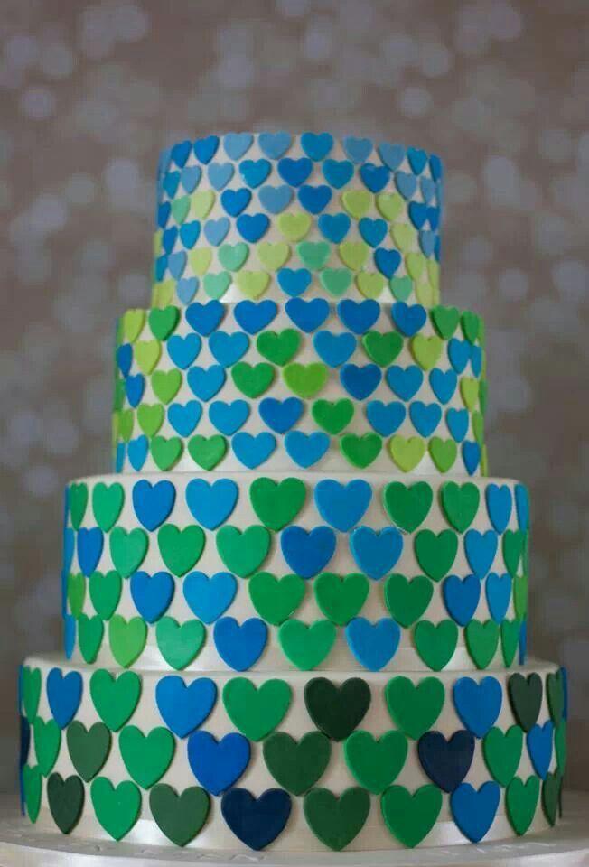 Groen blauw hartjes