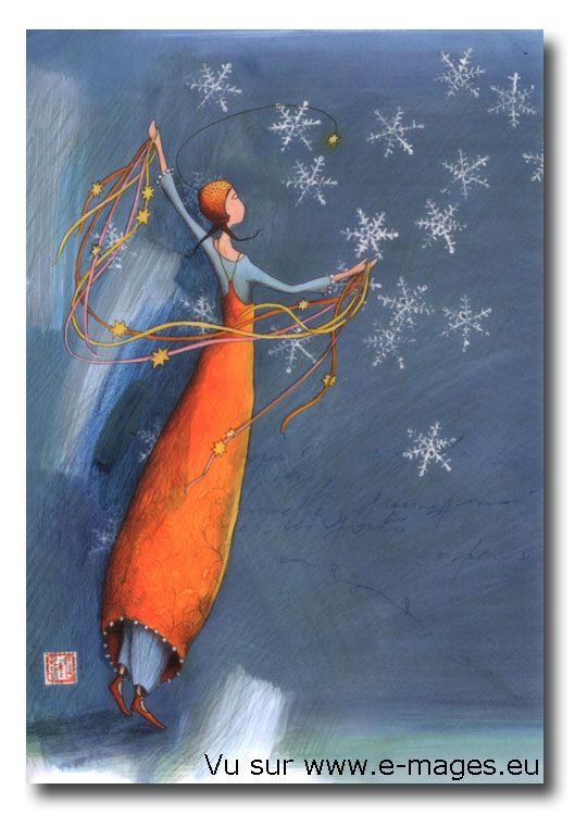 I remember the joy of seeing falling snow for the first time at night. http://www.e-mages.eu/im/articles/DB111.jpg Gaelle Boissonnard