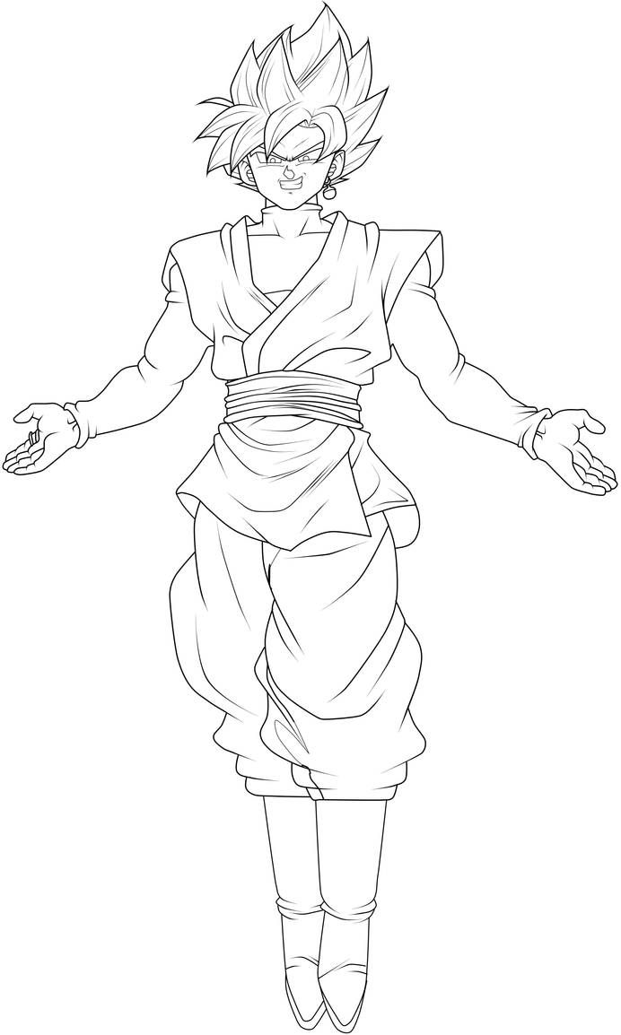 Goku Black Super Saiyan Rose Lineart By Chronofz On Deviantart Dragon Ball Super Artwork Dragon Ball Tattoo Dragon Ball Art