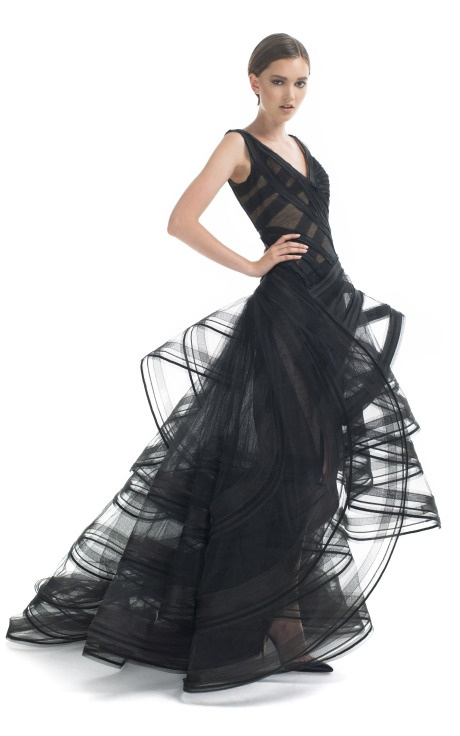 Zac Posen gown.  Like wearing a sketch