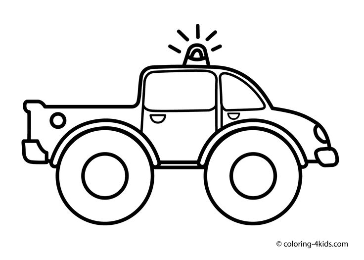 Truck Coloring Pages For Kids (transportation, Monster