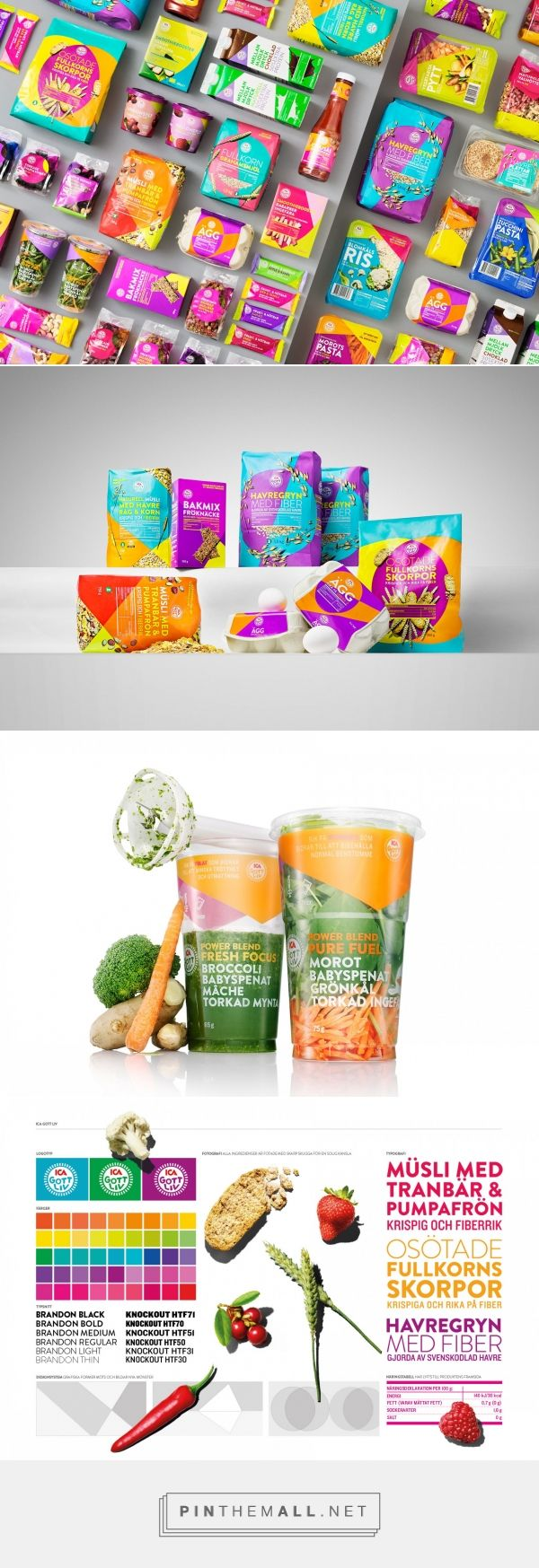 ICA Gott Liv colorful packaging branding via Designkontoret Silver curated by Packaging Diva PD. Who wants to go shopping at IGA now?