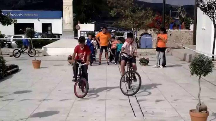 Moveweek 2014 - Ασκήσεις δεξιοτεχνίας για τους μικρούς Ποδηλάτες Σκύρου