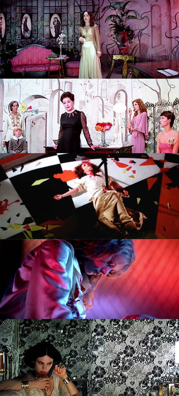 Suspiria (1977) The house is the main character. Amazing production design.