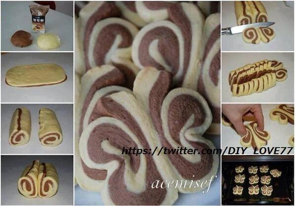 蝶々クッキーの作り方⋈    pic.twitter.com/5n1pq8oMch