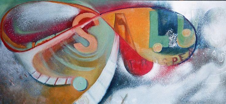 Infinity, oil on canvas, sprey, 100 x 50 cm, SOLD