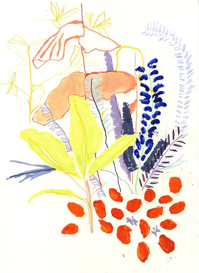 Alicia Galer malt Pflanzen. Scheinbar schon immer….