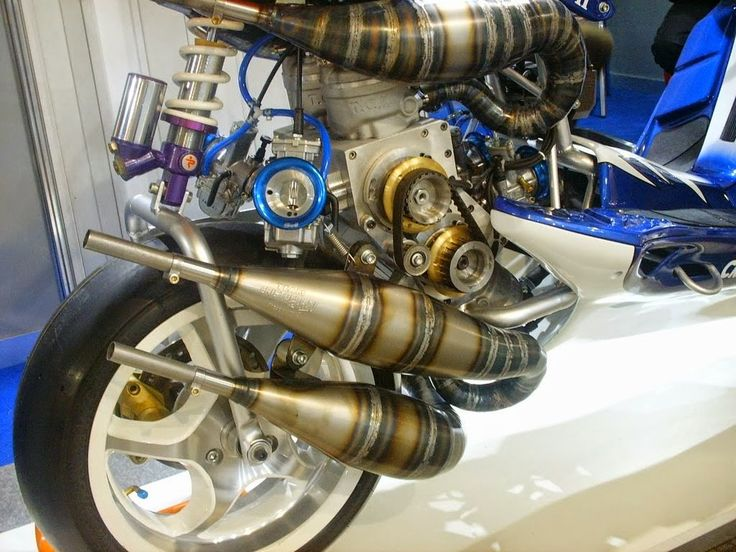 112BHP V4 350cc Scooter, Custom Scooter, V4 Engine, www.way2speed.com