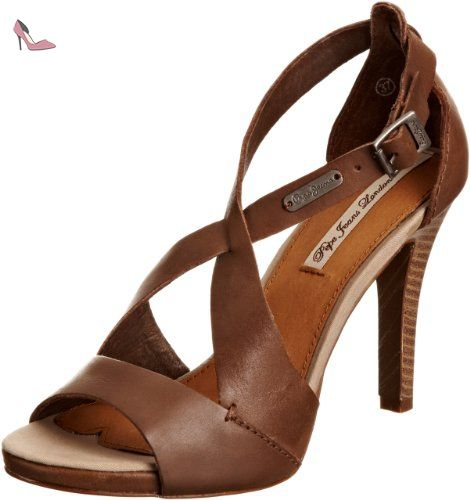 Pepe Jeans Footwear Dafne, Escarpins femme - Marron-V.5, 40 EU - Chaussures pepe jeans (*Partner-Link)