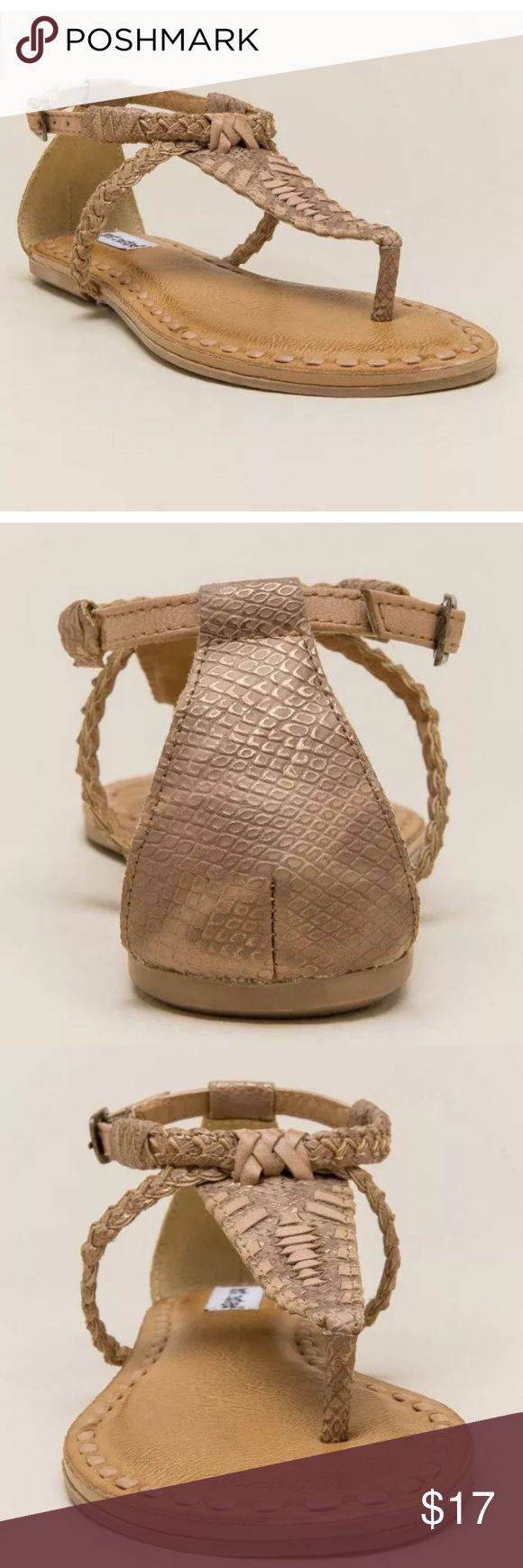 Not rated braided t-strap sands size 9 Brand new without box Not Rated Shoes Sandals