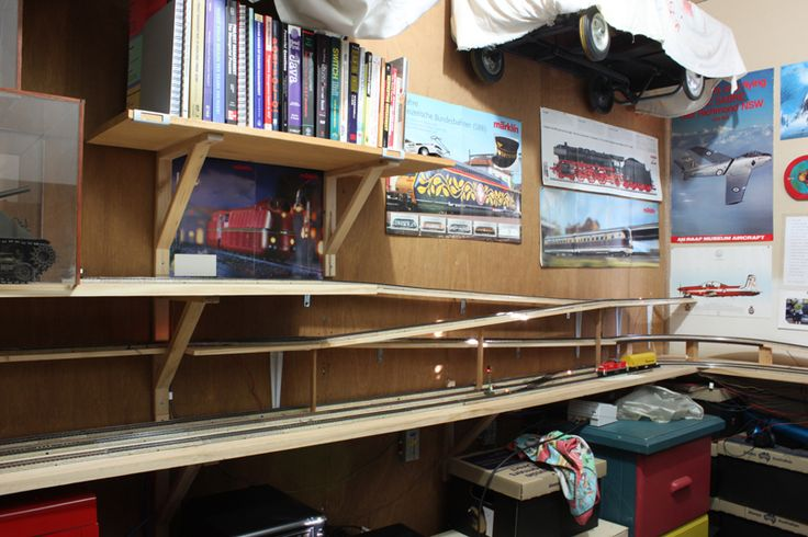 Ho Scale Train Wall Shelf Layout Google Search Man