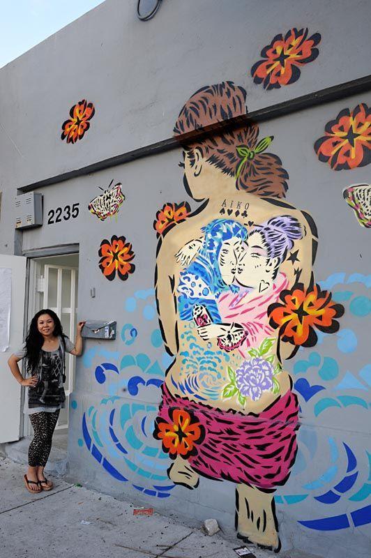 Aiko Nakagawa's graffiti art