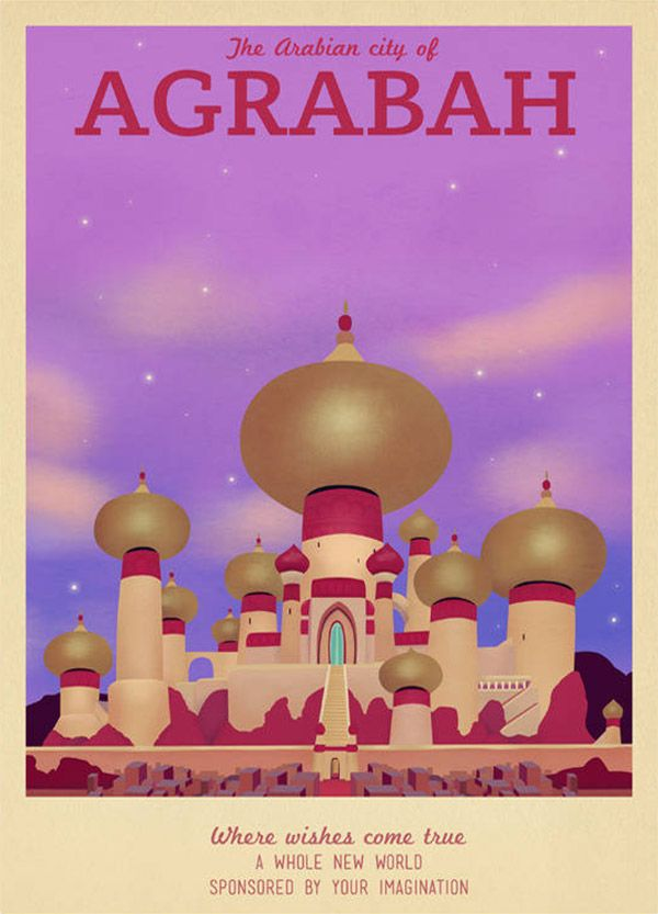 Agrabah Disney Travel Poster by TeacupPiranha