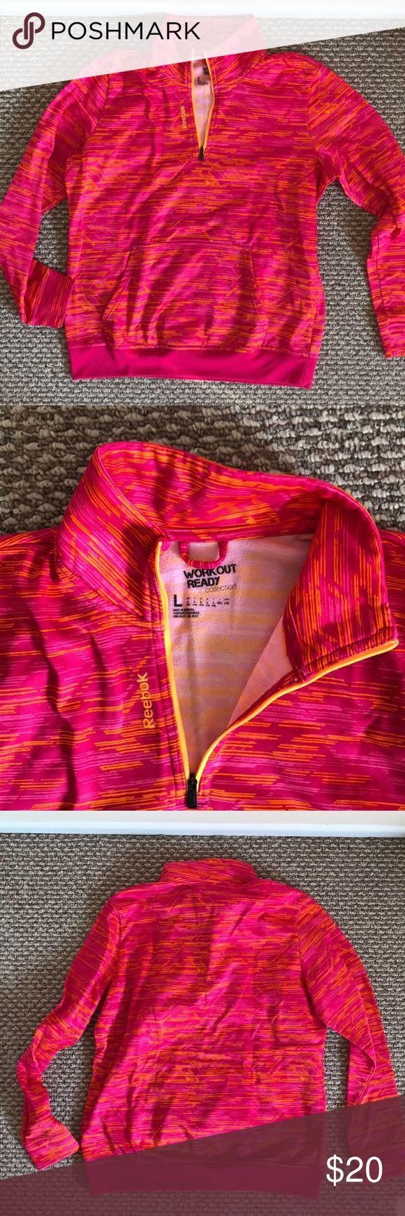 Zip up sweatshirt - reebok Pink and orange zip up sweatshirt - reebok Reebok Tops Sweatshirts & Hoodies
