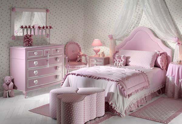 Decorar habitaciones para niñas con estilo clásico