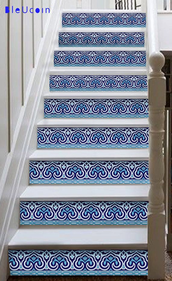 Indian stair case decal: Select the height of your stair riser in the drop down button with the quantity. You will be receiving square decals which