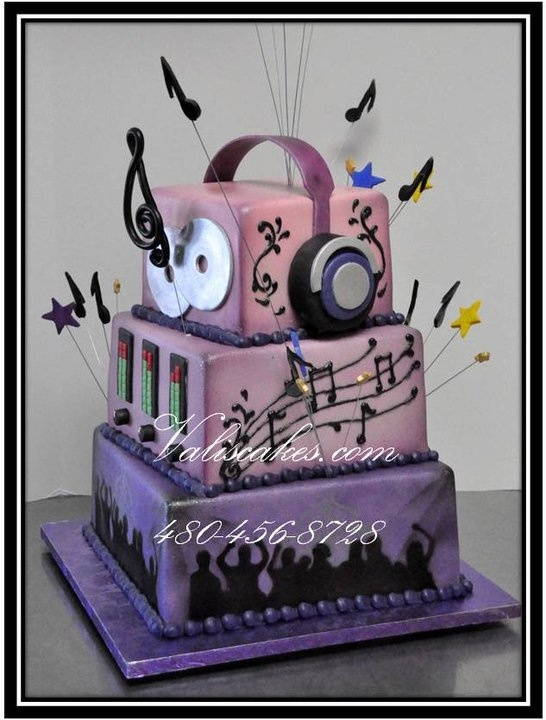 Cake Ideas Disco Birthday Party : 17 Best images about DJ Cakes on Pinterest Cool ...