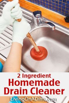 Easy Homemade Drain Cleaner And Drain Opener Recipe