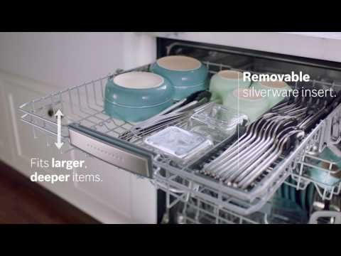 "Dishwasher | Energy Efficient and Quiet Dishwashers from Bosch with 3rd ""MyWay"" Rack"