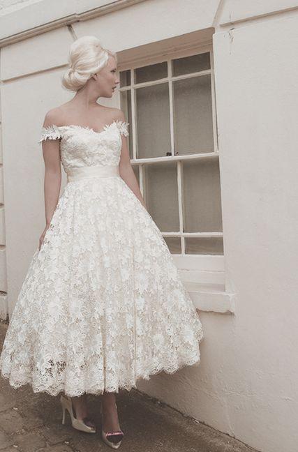 Short   Sweet: tea-length wedding dresses