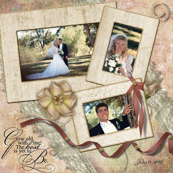 #Scrapbooking Wedding Layout.  Falling in Love Layout.  Love layout.  In love layout.