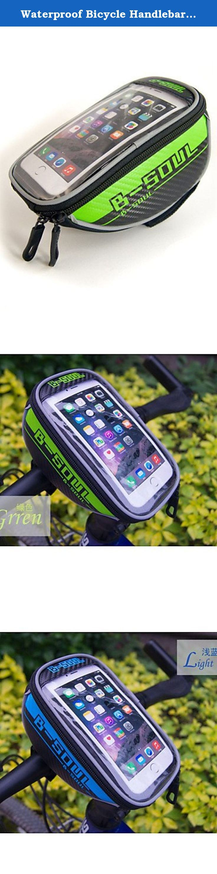 """Waterproof Bicycle Handlebar Bag for 5.5"""" Cellphones , blue. Type:Bike Handlebar Bag, Bike Frame Bag, Cell Phone Bag, Activity:Cycling/Bike, Gender:Unisex, Occasion:Outdoor, Material:Nylon, Color:Blue, Gray, Red, Green, Function:Touch Screen, Wearable, Reflective Strip, Rain-Proof, Waterproof, Dimension (L¡ÁW¡ÁH) (cm):18*10*7cm, Net Weight (kg):0.112, Capacity (L): Capacity Range (L): Compatible Cell Phone Brands:Other Similar Size Phones, Iphone 6 Plus/6S Plus, Iphone 6/IPhone 6S, LG G3..."""