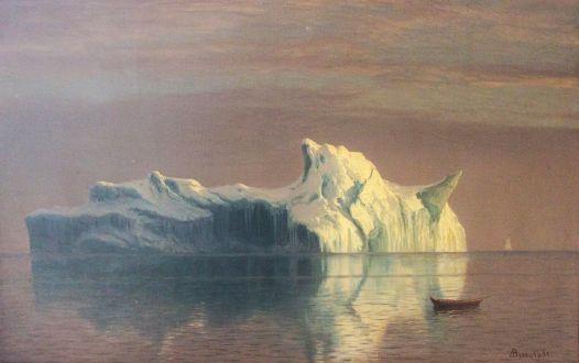 Painting by Albert Bierstadt: The Iceberg