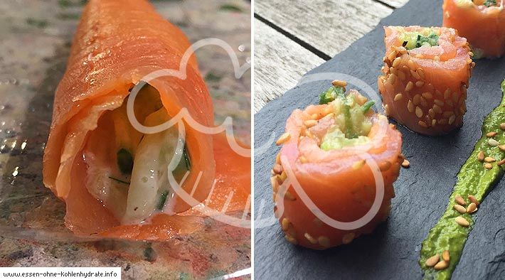 Low-Carb Lachs-Sushi