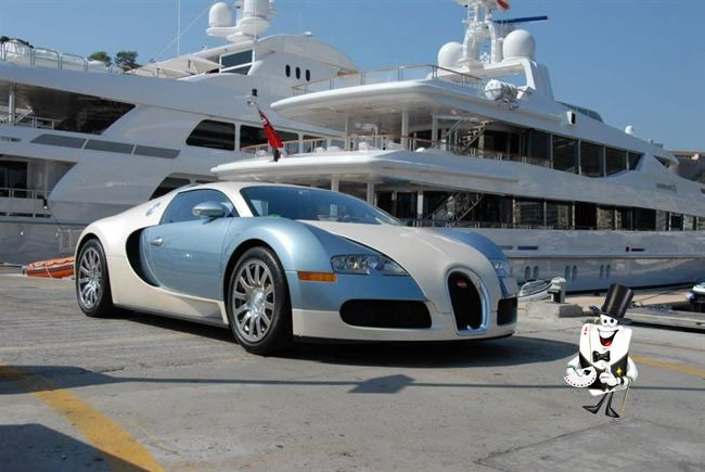 Yacht and Veyron, nothing more to add..
