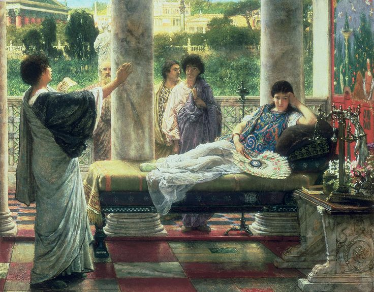 Sir Lawrence Alma-Tadema (1836-1912), Catullus Reading His Poems at Lesbia's House - 1870