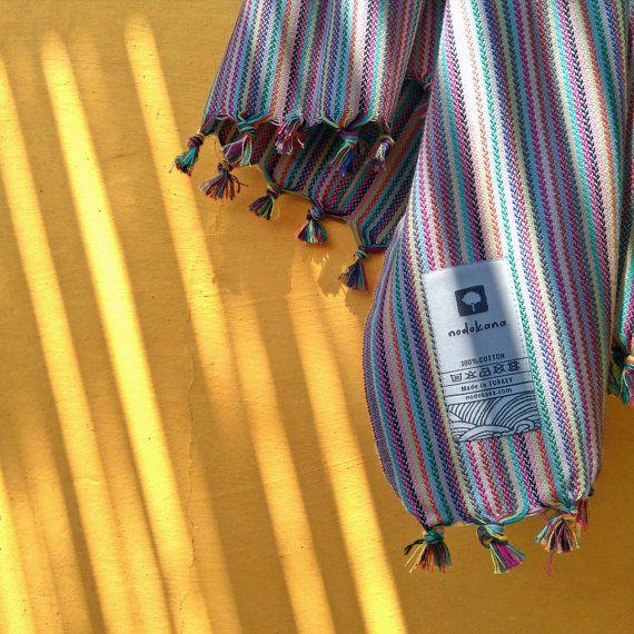 Rainbow Kitchen Towel #nodokana #peshkir #placemat #kitchentowel #teatowel #dishcloth