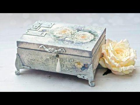 DECOUPAGE romantyczne pudełko Tutorial  DIY