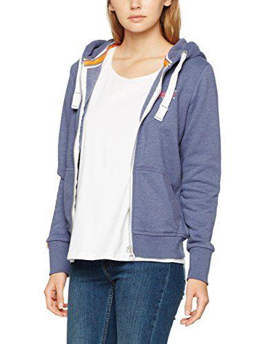 Superdry Orange Label Primary Ziphood Sweat-Shirt à Capuche Sport Femme
