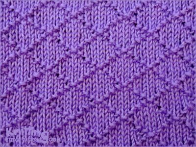 I love the look of this design! There's something so pretty about the graceful flow of symmetrical diamonds. Because this pattern uses a combination of knit and purl stitches, even beginners can learn how to do it.