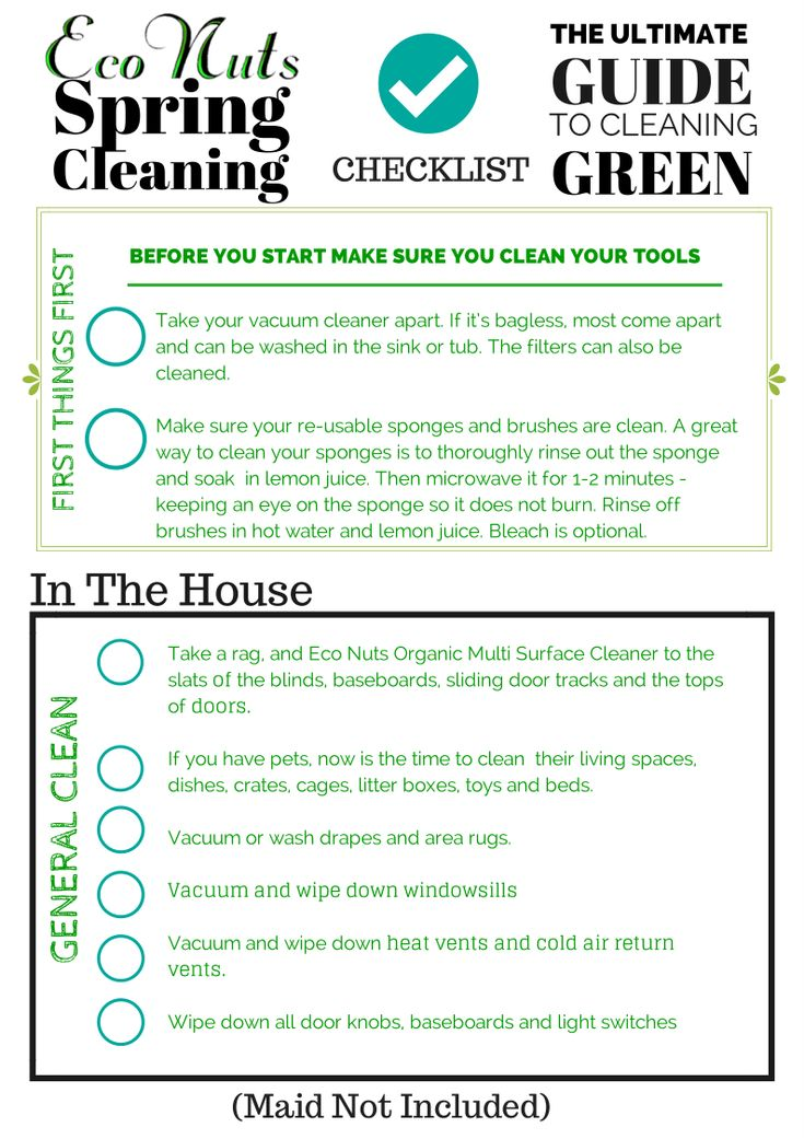 11 best Spring Cleaning images on Pinterest Bedroom cleaning - sample spring cleaning checklist