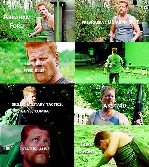 Knowing About Abraham Ford #TWD <<<my guess is that Abraham was killed by Neegan, thoughts?