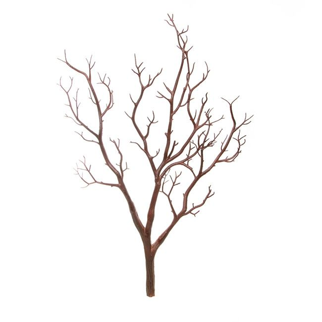 Coral Tree Twisted Branch PVC Brown (65cmH)
