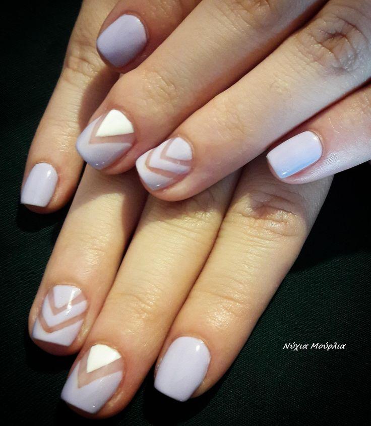 nailart~handmade nails~pastel nails