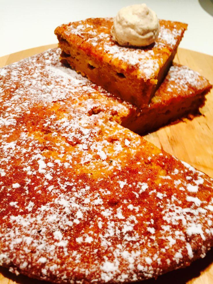 Torta di zucca e amaretti - Pumpkin and amaretto biscuit pie