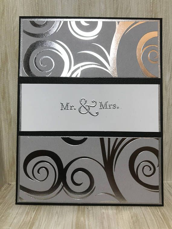 Mr. & Mrs. Card//Wedding Card//Handmade Card