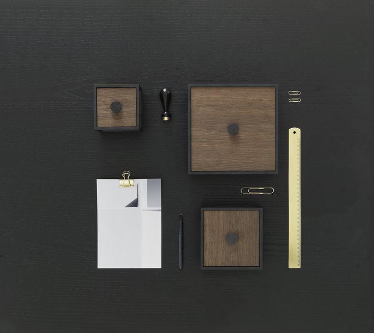 Frame 10, 14, 20 storage box in Smoked oak from by Lassen