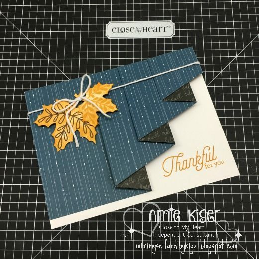 Mimi, Myself, and I: Swan Lake Drapery Fold Card