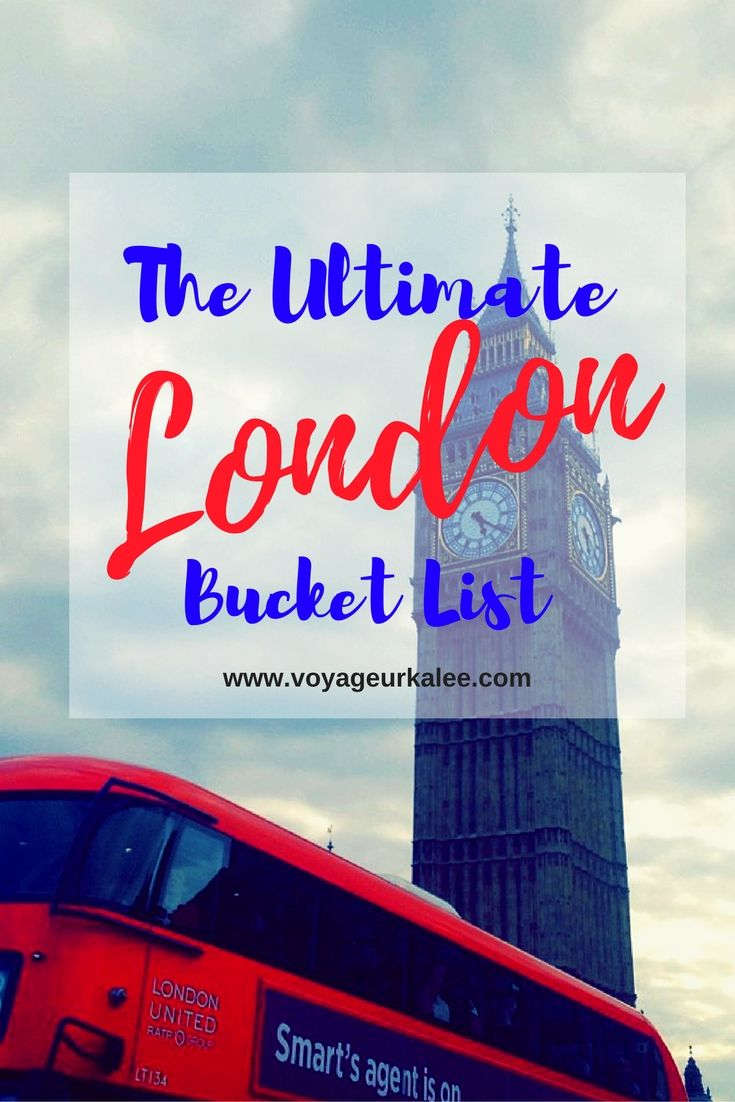 Whenever people I know are planning to visit London or they are just  curious about my favorite attractions over there - I can never say JUST  one. There is so much to London that I don't even believe I was able to see  all of it and I spent an entire year there.   This list that I've compiled for you is just a comprehensive, tourist list  of attractions to see while you are in London. There are quite a few other  boroughs and quirky places to visit while you are there BUT if you are only…