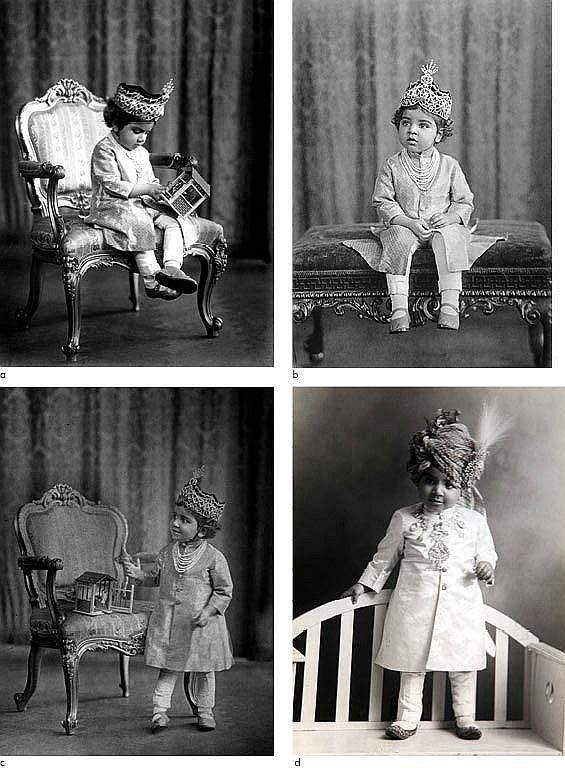 Charming and beautifulportraits of theMaharaj Kumar Hanwant Singh Ji Jodhpur a little child photographedbyVandyk, London 1900s.