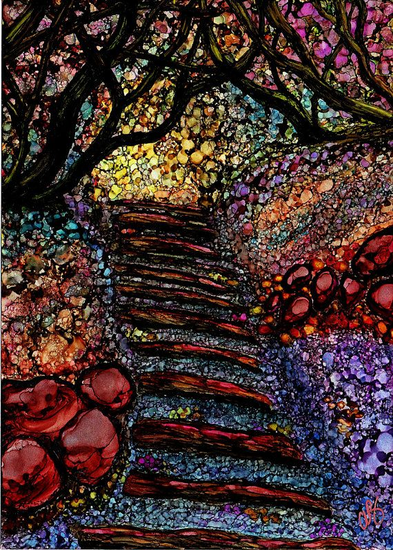 The Path Alcohol Ink Painting Prints available here:  http://fineartamerica.com/art/all/angeline+beres/all