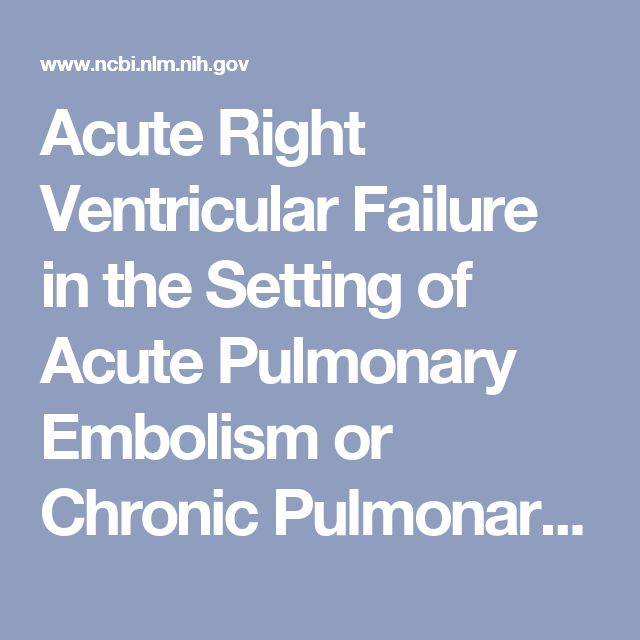 Acute Right Ventricular Failure in the Setting of Acute Pulmonary Embolism or Chronic Pulmonary Hypertension: A Detailed Review of the Pathophysiology, Diagnosis, and Management