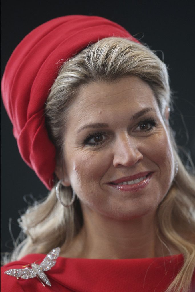 Queen Maxima Photos Photos - Queen Maxima of the Netherlands is pictured at the…