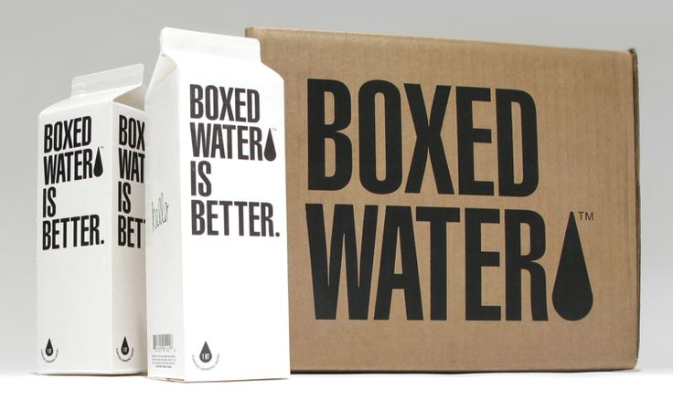"""I don't know if """"Boxed Water Is Better"""" - but the packaging people are brilliant for making bottled water look lame and this packaging chic."""